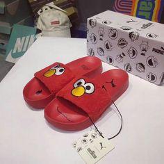 b28b8c14578b8e chaussures de course Unisex 2017 Spring Summer PUMA Leadcat X Sesame Street  High Risk Red Youth Big Boys Shoes