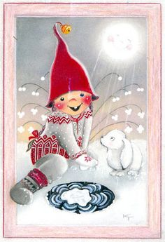 special noel - Page 3 Swedish Christmas, Christmas Gnome, Scandinavian Christmas, Christmas Art, Christmas Photos, Winter Christmas, Vintage Christmas, Winter Snow, Illustration Noel