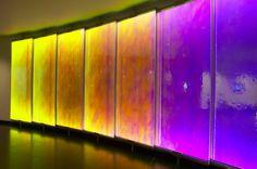Illuminated Colour-Changing Glass Wall