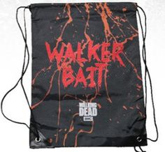The Walking Dead Walker Bait Cinch Bag Walking Dead Memes, Fear The Walking Dead, Cinch Sack, Disney Sweatshirts, Stuff And Thangs, Bait, Couture, Long Hoodie, Drawstring Backpack