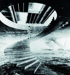 Museu de Arte Moderna, Rio de Janeiro, 1953, Stair case. Arquiteto Affonso Eduardo Reidy