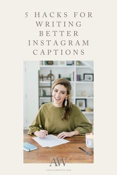 5 Hacks for Writing Better Instagram Captions | Ashlyn Writes | As a copywriter I have been asked time and time again how to write better captions for Instagram. So in this post I am answering that exact question and giving you my 5 hacks on how to write better Instagram captions. #instagramcaptions #writingcaptions #igcaptions #ashlynwrites