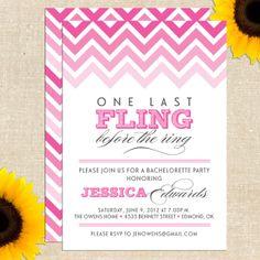 Fling Bachelorette Invitation DIY PRINTABLE. $20.00, via Etsy.