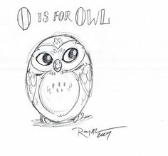 The Royal Daily Sketch: O is for Owl