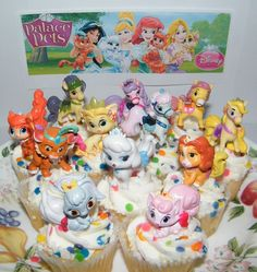 Disney Princess Palace Pets Figure Set of 12 Mini Cake Toppers Party Favors