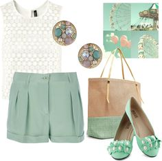 """Minty Casual"" by mitika1980 on Polyvore"
