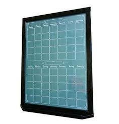 """A custom sized two-month calendar for a customer, based on our Green """"Chalkboard"""" whiteboard design."""