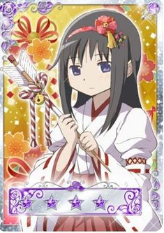 Homura - New Year's - Madoka Magica Mobage Cards