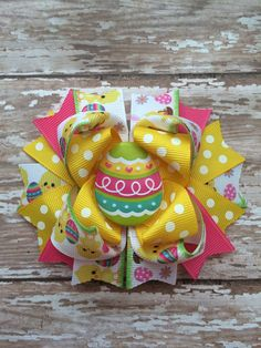 Easter hair bow by TheJMarieBoutique on Etsy