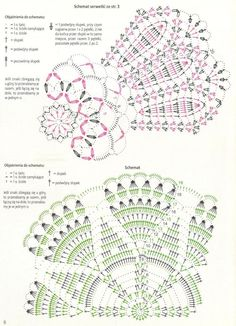 Crochet and arts: napkins Crochet Doily Diagram, Crochet Motif Patterns, Crochet Chart, Filet Crochet, Crochet Designs, Stitch Patterns, Knit Crochet, Crochet Books, Crochet Home