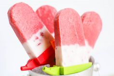 Driscolls Strawberries and Cream healthy popsicle recipe by Anders Ruff - @Stevie Driscoll's Berries #tastesummer