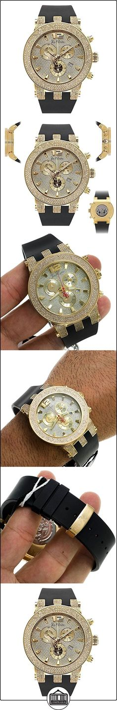 Joe Rodeo Master Pilot - Reloj para hombre con diamantes,oro de 5quilates  ✿ Relojes para hombre - (Lujo) ✿