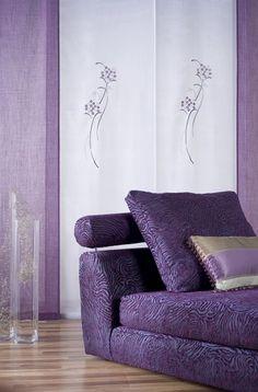 Panel bordado Lavanda | Estampados y Bordados | Enrollables y paneles | Scenes by Vanico