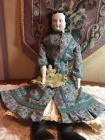"25"" Tall Antique China Head Doll- Fabulous Leather Boots!-ON SALE!!!"