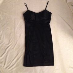 "24-HR SALE! Calvin Klein LBD Little Black Dress Only wore this dress once - selling since it no longer fits me  Body-hugging, black Calvin Klein dress is a 6P (regular size 4). Adjustable shoulder straps. Built-in padded bra. Bust features beautiful pleated detail. Back zipper. Acetate/nylon/spandex blend. Dry clean only. Measurements: 16"" flat across bust, 34"" from shoulder to hem, 14.5"" across waist. Calvin Klein Dresses Mini"