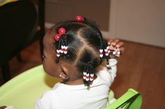 cute braids and beads