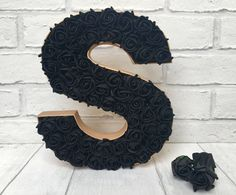Black and gold decor, Gothic inspired room decor, Black rose letter, Gold room decoration, Alternative wedding decor, Dramatic home decor by LoveLettersbyAnalisa on Etsy