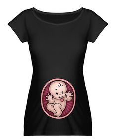 GWith that perfect pregnancy glow and convex shape, it's no secret that someone's having a baby. Celebrate that bun in the oven with this clever maternity tee made from luxuriously soft jersey cotton. 100% cottonMachine wash; tumble dryImported