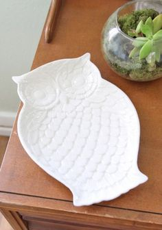 to the sky owl platter  $19.99  As a candy dish, snack platter, or jewelry holder, this ceramic cream colored owl will be a beautiful addition to your collection. Dishwasher and microwave safe.