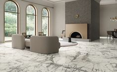 ariostea imperial grey - Google Search Marble Effect, Floor Patterns, Calacatta, Grey And Gold, Oversized Mirror, Improve Yourself, Colours, Flooring, Furniture