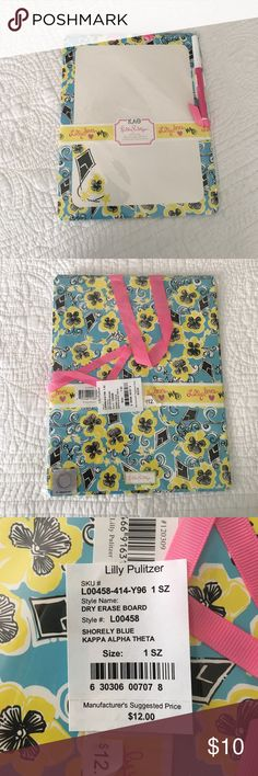 """Lilly Pulitzer Kappa Alpha Theta Dry Erase Board This Lilly Pulitzer """"Kappa Alpha Theta"""" Dry Erase Board is NWT and SOLD OUT everywhere! Lilly Pulitzer Other"""