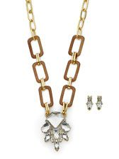 POSH PRISM NECKLACE AND EARRING SET $36!!