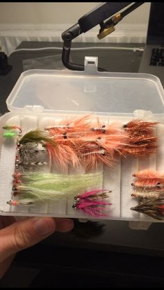 They are all made by hand... My hand :-)  flytying, coast, stream, river