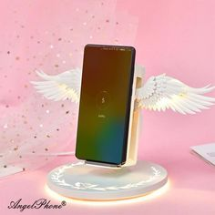 Angel Wireless Charger Holder Dock Fast Charging Wings Iphone Samsung Huawei for Sale in Corona, CA - OfferUp Iphone Ladegerät, Iphone 8 Plus, Mobiles, Korean Look, Charger Holder, Android, Usb, Kawaii, Galaxy Note 9