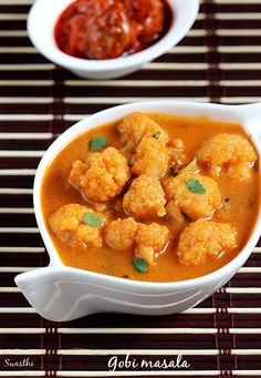Gobi masala recipe - cauliflower masala curry - gobi recipe
