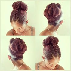 Braided section bun.