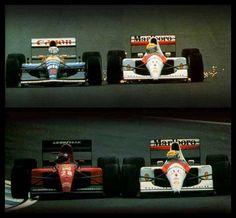 f1 1991 - Ayrton vs Mansell, Ayrton vs Alesi