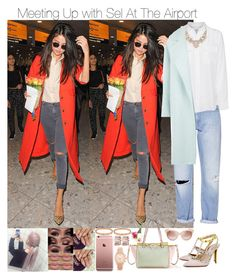 """Meeting Up with Sel At The Airport"" by jdyolaleye ❤ liked on Polyvore featuring French Connection, Equipment, MaxMara, Valentino, Plukka, Michael Kors and Cartier"