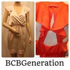 ⬇️ BCBGeneration Ruffled Cayenne Polyester dress Like new condition BCBG dress. Worn once. Ruffled Cayenne Polyester. Size XS. BCBGeneration Dresses