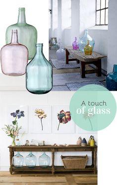 Loving glass bottle vases