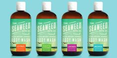 The Seaweed Bath Co. — The Dieline - | graphic design. visual communication. packaging. package design. label design. branding. layout. hierarchy. typography. color system.