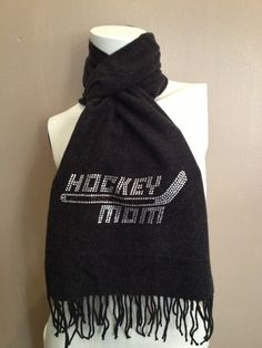 Hockey Mom  Crystal Scarf by ILoveMyTeam on Etsy, $30.00