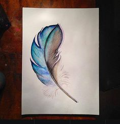 Feather Watercolour and pen Buy your A3 quality print from my etsyshop. Use link: https://www.etsy.com/no-en/shop/Rampestreken Or visit me at https://www.facebook.com/Rampestreken and order through inbox. Feel free to make requests, I also make orders:)