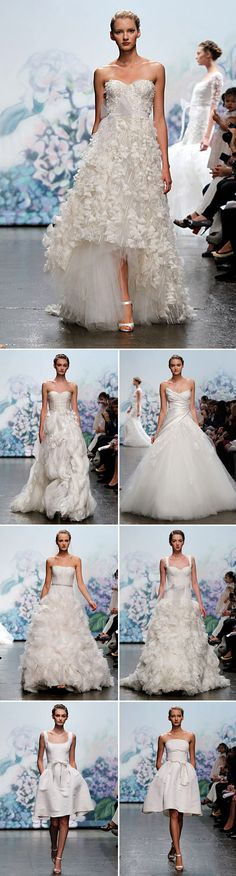 Feminine, modern and stunning, Monique Lhuillier wedding dresses will make every bride feel like a princess