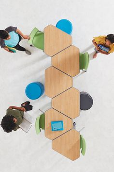 This versatile, contemporary desk designed for collaborative learning provides sleek looks and solid functionality. It can be arranged in compact groups of up to six. Classroom Layout, Classroom Setting, Classroom Design, Kindergarten Classroom, Future Classroom, Classroom Themes, Classroom Organization, Classroom Decor, Classroom Desk Arrangement