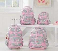 Mackenzie Gray Pink Horse Backpack | Pottery Barn Kids