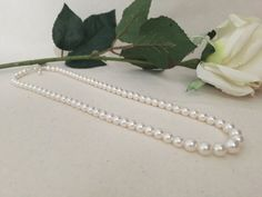 Swarovski pearls necklace pearl necklace by TheLittleBleuberie
