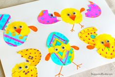 This hatching spring chicks craft is just the cutest and is so fun to make! You'll just need a few craft supplies, and the post even includes a free egg template to make creating this project even easier.