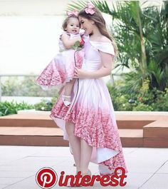 s Clothing Children' Mom Daughter Matching Dresses, Mom And Baby Dresses, Mom And Baby Outfits, Mom Dress, Dresses Kids Girl, Kids Outfits, Fashion Kids, Girl Fashion, New Dress Design Indian