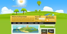 Landscape Design Drawn Style Template by MandLoys This is a drawn style, modern template design. The template is ideal for any creative portfolio site. It has a changeable menu bar