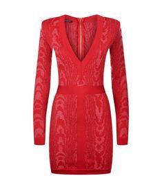View the Long Sleeve V-Neck Knit Dress
