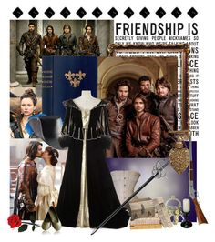 """""""all for one, and one for all"""" by rose-swan ❤ liked on Polyvore featuring Pieces, Dickins & Jones, Dot & Bo, RIFLE, heroes, musketeers, 17thcentury, BBCshows and fameousbooks"""