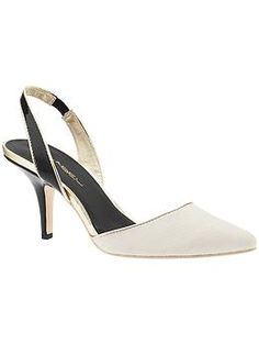 A pair of white heels that don't scream 90's, and $49!