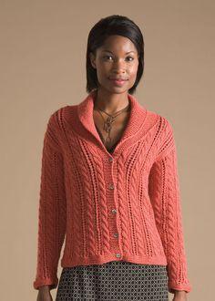 Nashua Handknits--Diane Zangl--Lace and Cable Jacket