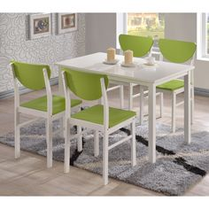 K & B Furniture Rutland 5 Piece Dining Set | from hayneedle.com