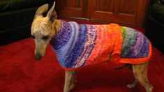 Knitted Whippet Coat knitting pattern Download